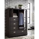 Aspenhome Front Street Chiffarobe with Mirrored Cabinet Door