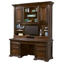 Highland Court Grand Classic Credenza with Hutch - Item Number: I91-318+319