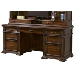 """Aspenhome Grand Classic 74"""" Credenza Desk"""