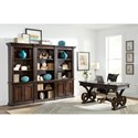 Aspenhome Grand Classic Door Bookcase with Concealed Drawer