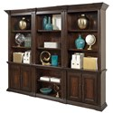 Aspenhome Grand Classic Open Bookcase with Concealed Drawer