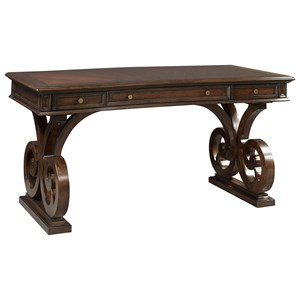 "Aspenhome Grand Classic 66"" Scrolled Leg Writing Desk"