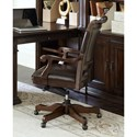 Aspenhome Grand Classic Office Arm Chair with Nailhead Trim