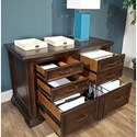 Aspenhome Grand Classic Combo File with 2 Utility Drawers