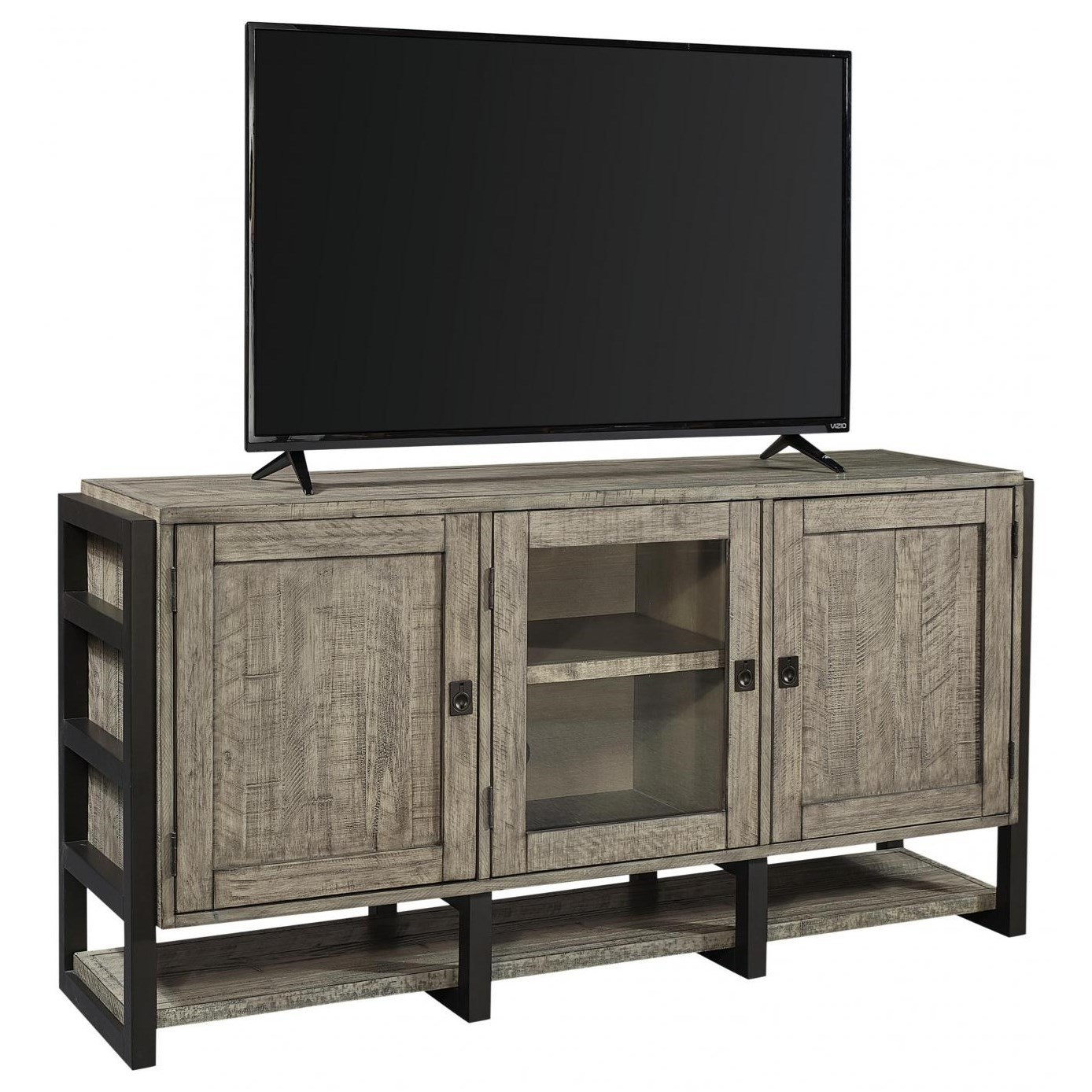 "Grayson 65"" Console by Aspenhome at Walker's Furniture"