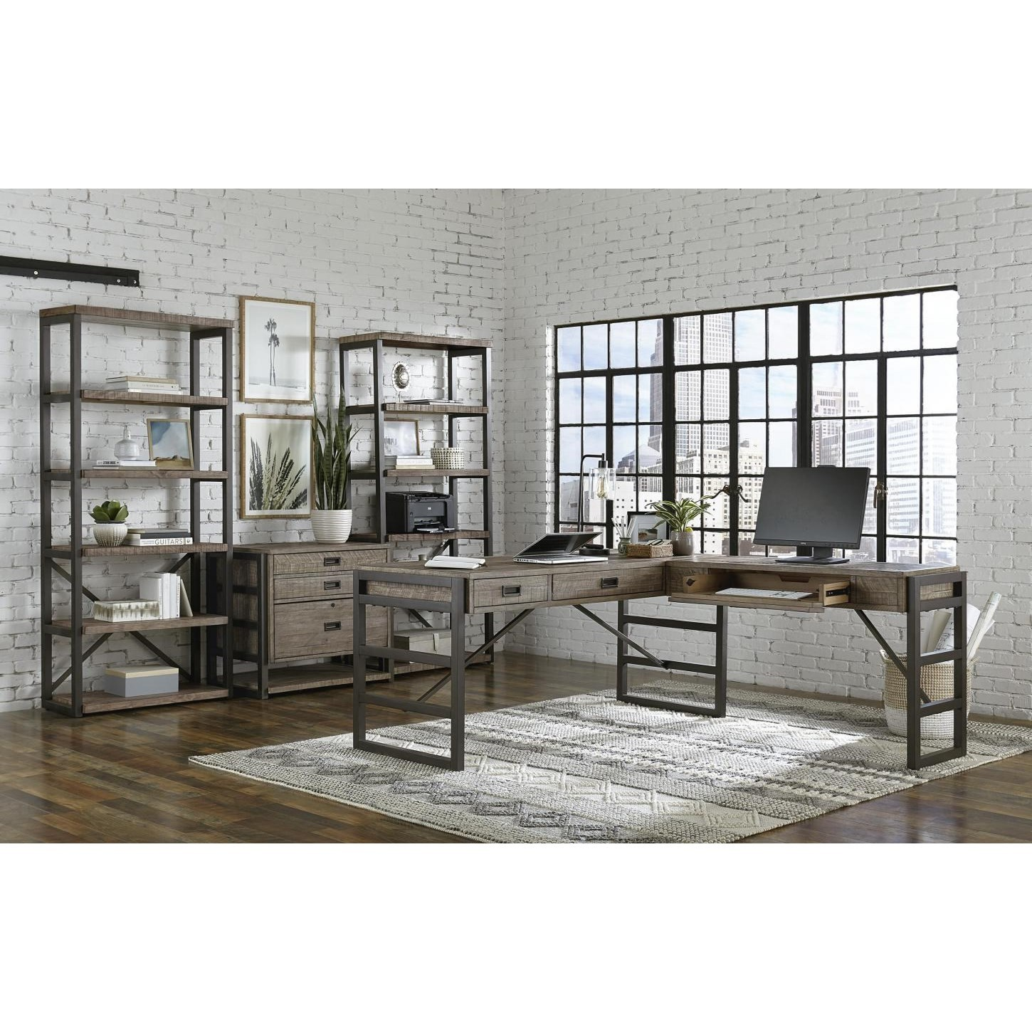 Grayson L-Shaped Desk by Aspenhome at Baer's Furniture