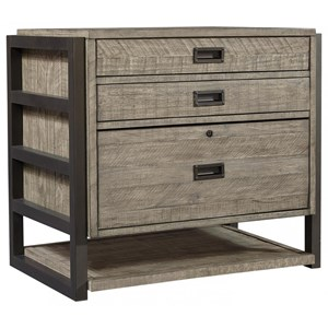 Rustic File Cabinet with Locking Storage