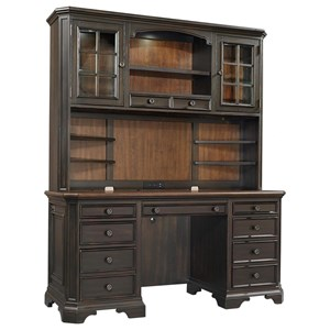 Credenza Desk and Hutch
