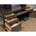 Aspenhome Harper Point Contemporary Desk and Hutch with USB and Outlets