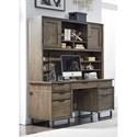 Highland Court Harper Point Desk and Hutch - Item Number: IHP-316-FSL+317-FSL