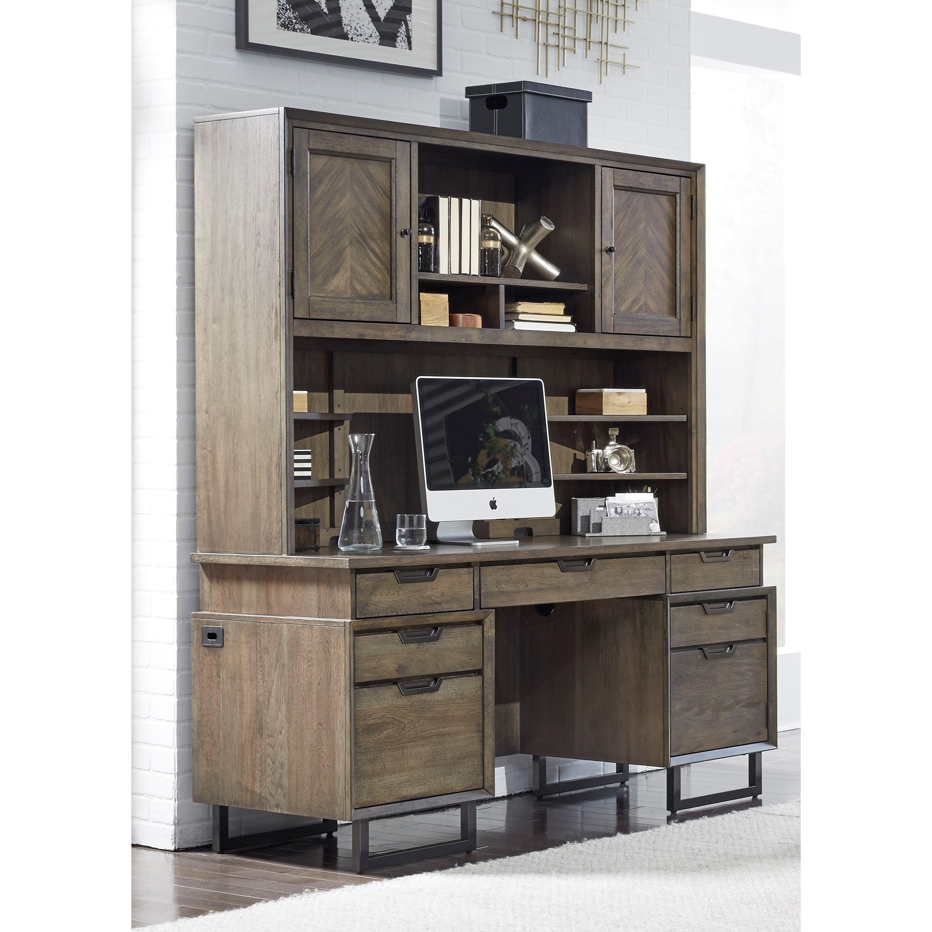 Aspenhome Harper Point Contemporary Credenza Desk With