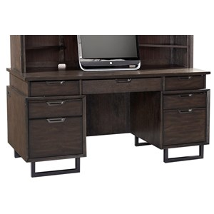 Aspenhome Harper Point Credenza Desk