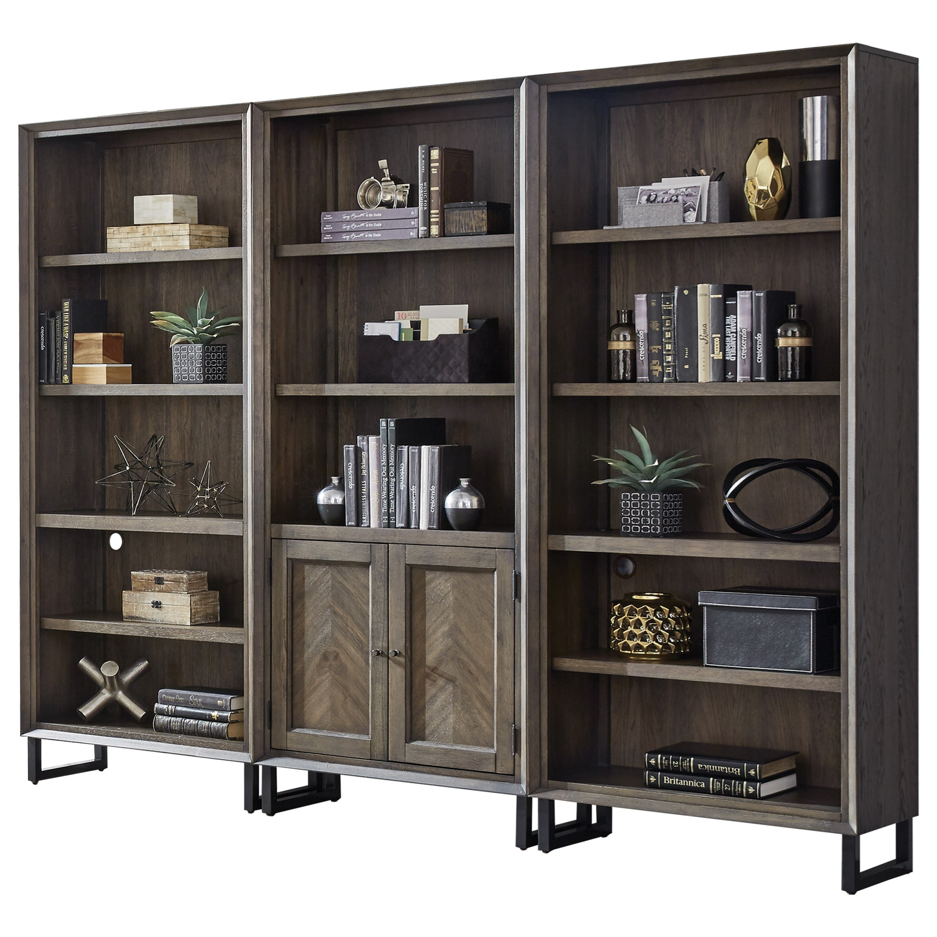 Harper Point Bookcase Set by Aspenhome at Baer's Furniture