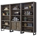 Aspenhome Harper Point Bookcase Set - Item Number: IHP-332-FSL+2x333-FSL
