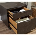 Aspenhome Harper Point Contemporary Rolling File Cabinet with Two Drawers