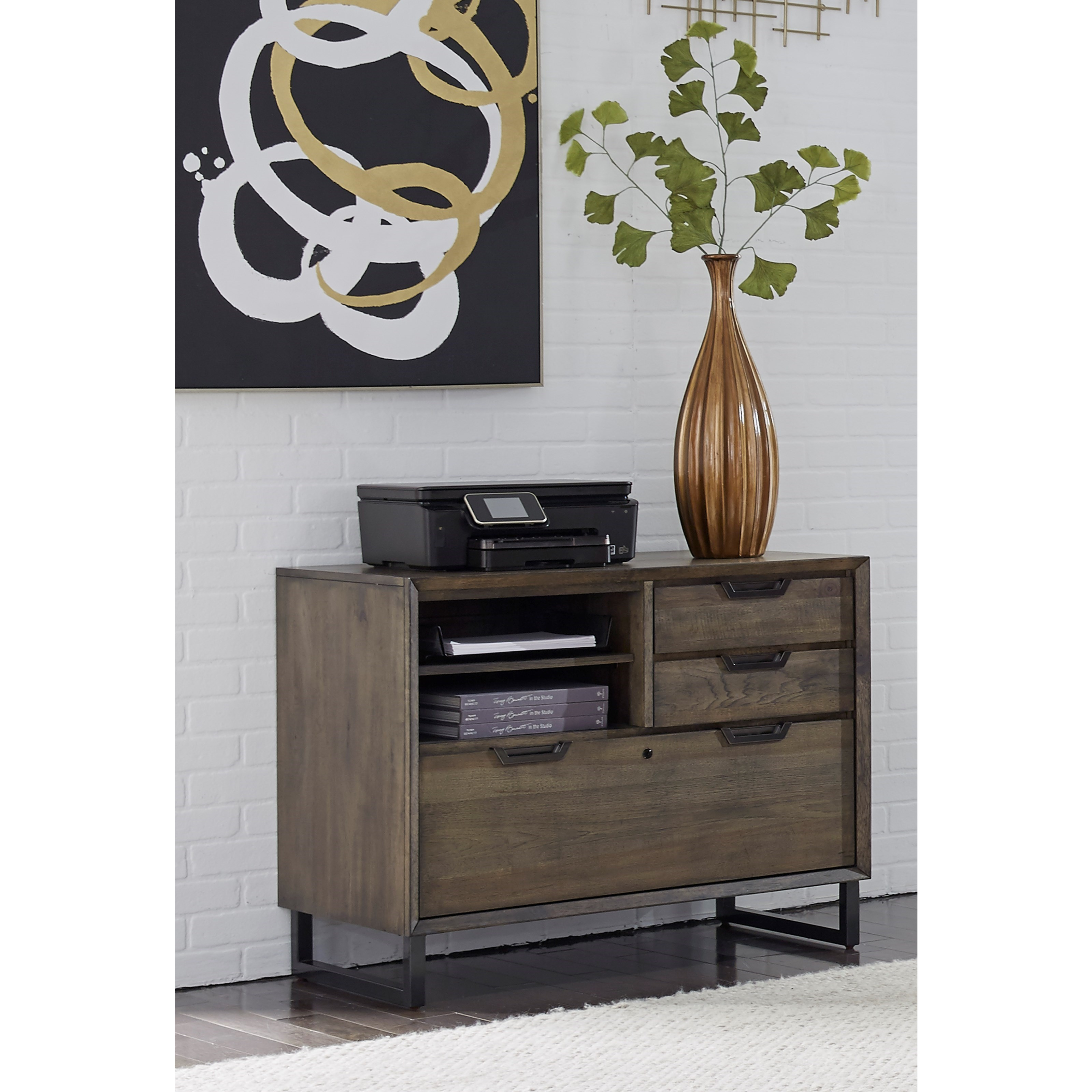 Harper Point Combo File Cabinet by Aspenhome at Walker's Furniture