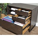 Aspenhome Harper Point Contemporary Combo File with Locking Lateral Drawer