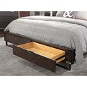 Aspenhome Harper Point California King Contemporary Herringbone Bed with Footboard Storage