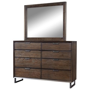 Morris Home Furnishings Harper Point Chesser and Mirror