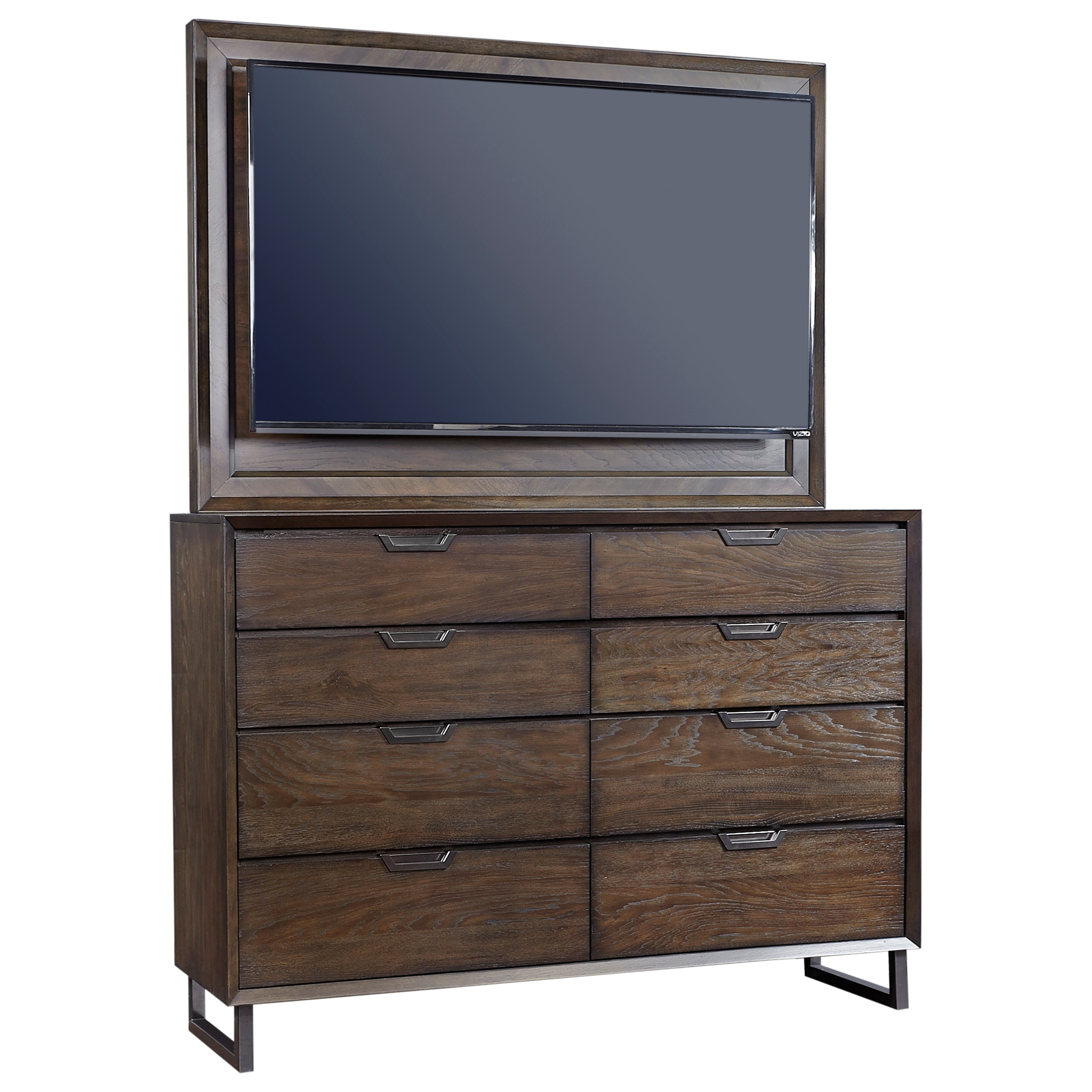 Aspenhome Harper Point 8 Drawer Chesser and TV Frame - Item Number: IHP-455+487