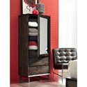 Morris Home Furnishings Harper Point Tall Contemporary Door Chest with Mirror