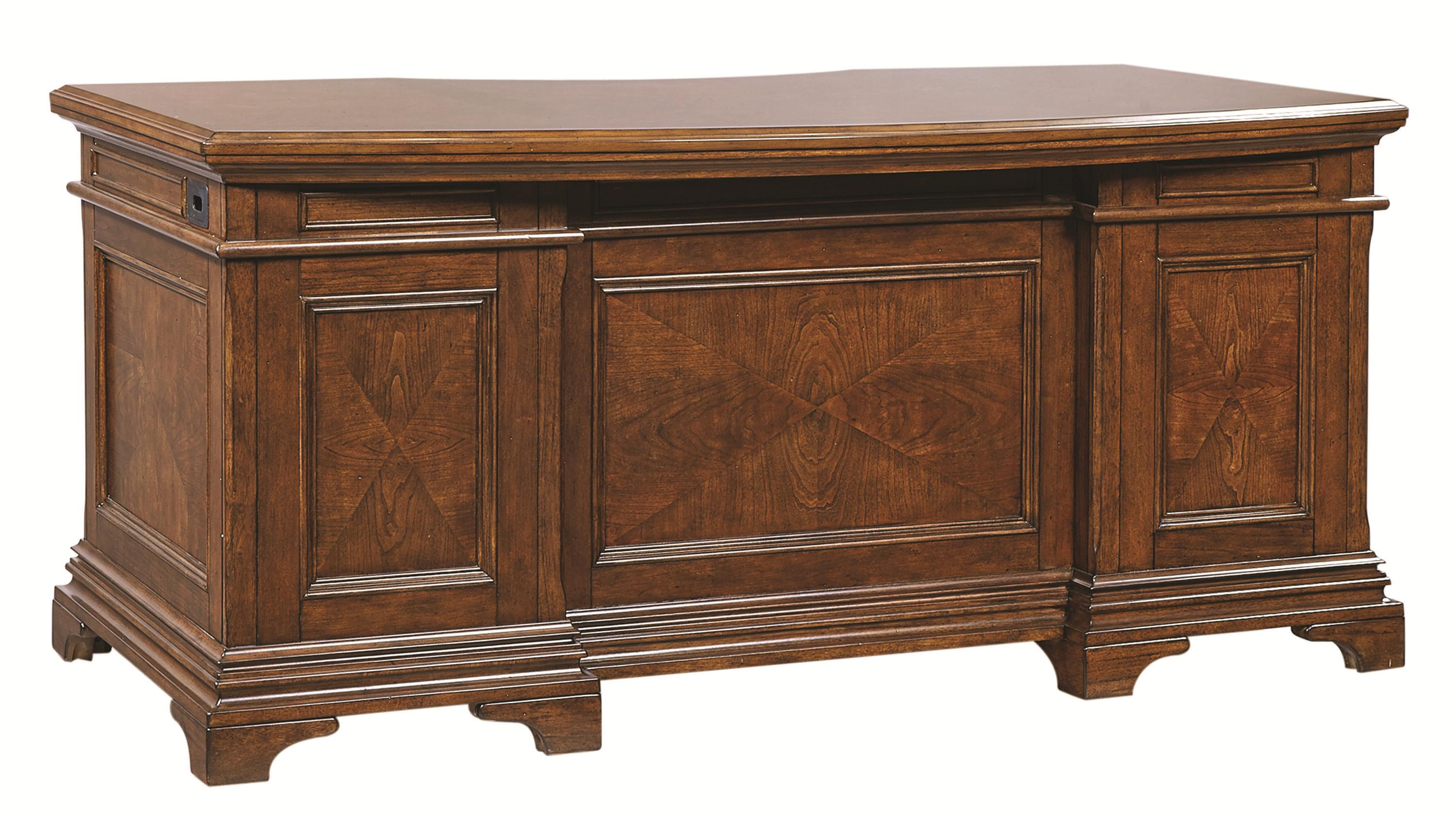 Hawthorne Curved-Top Exec Desk by Aspenhome at Walker's Furniture