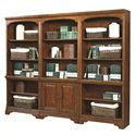 Aspenhome Hawthorne Open Bookcase with 3 Adjustable Shelves and 1 Stationary Shelf
