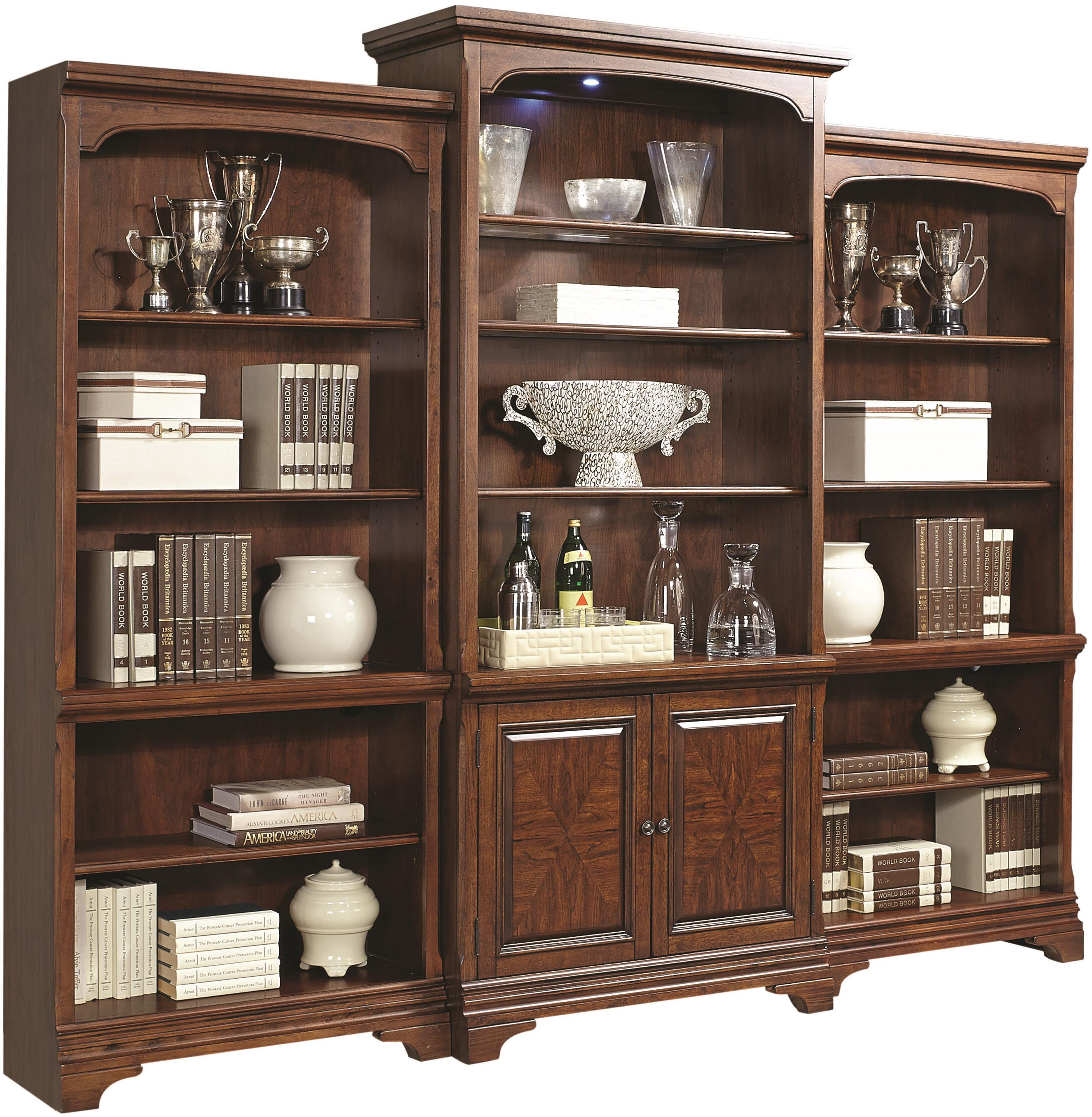 Aspenhome Hawthorne Bookcase Wall - Item Number: I26-336+2x333