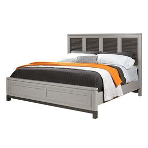 Aspenhome Hyde Park Cal King Liquid Panel Bed (non-storage)