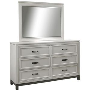 Aspenhome Hyde Park 6 Drawer Dresser and Mirror