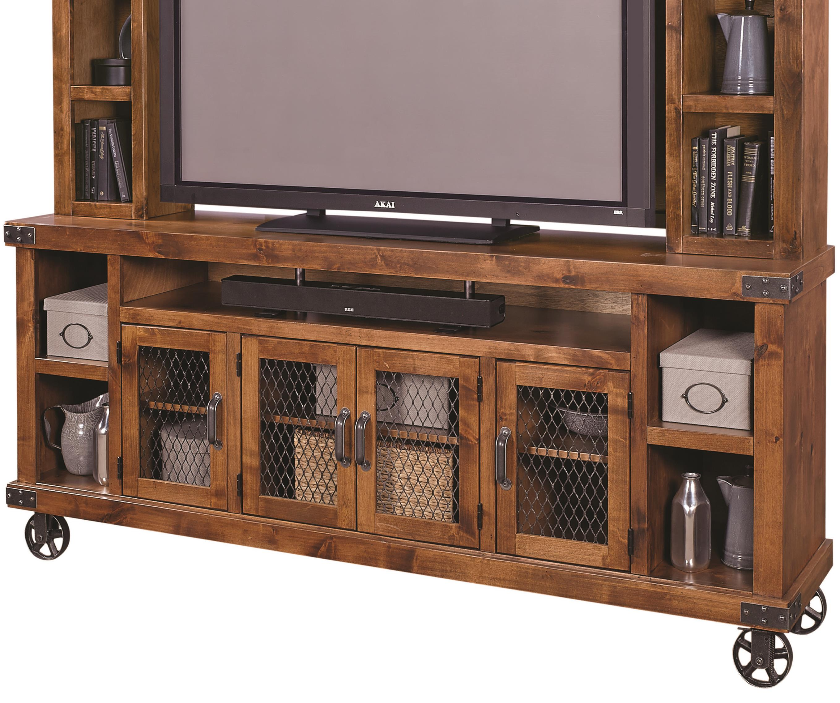 "Industrial 84"" Console  by Aspenhome at Baer's Furniture"
