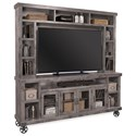 "Aspenhome Industrial  84"" Console with Hutch - Item Number: DN1036-GRY+H-GRY"
