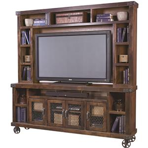"Aspenhome Industrial 84"" Console with Hutch"