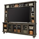 """Aspenhome Industrial 97"""" Console & Hutch - Item Number: DN1270+H-GHT"""