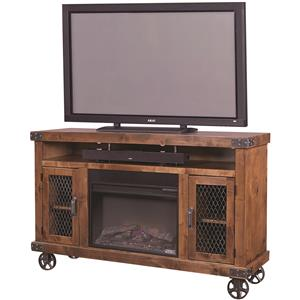 "Morris Home Furnishings Industrial 62"" Fireplace Console"