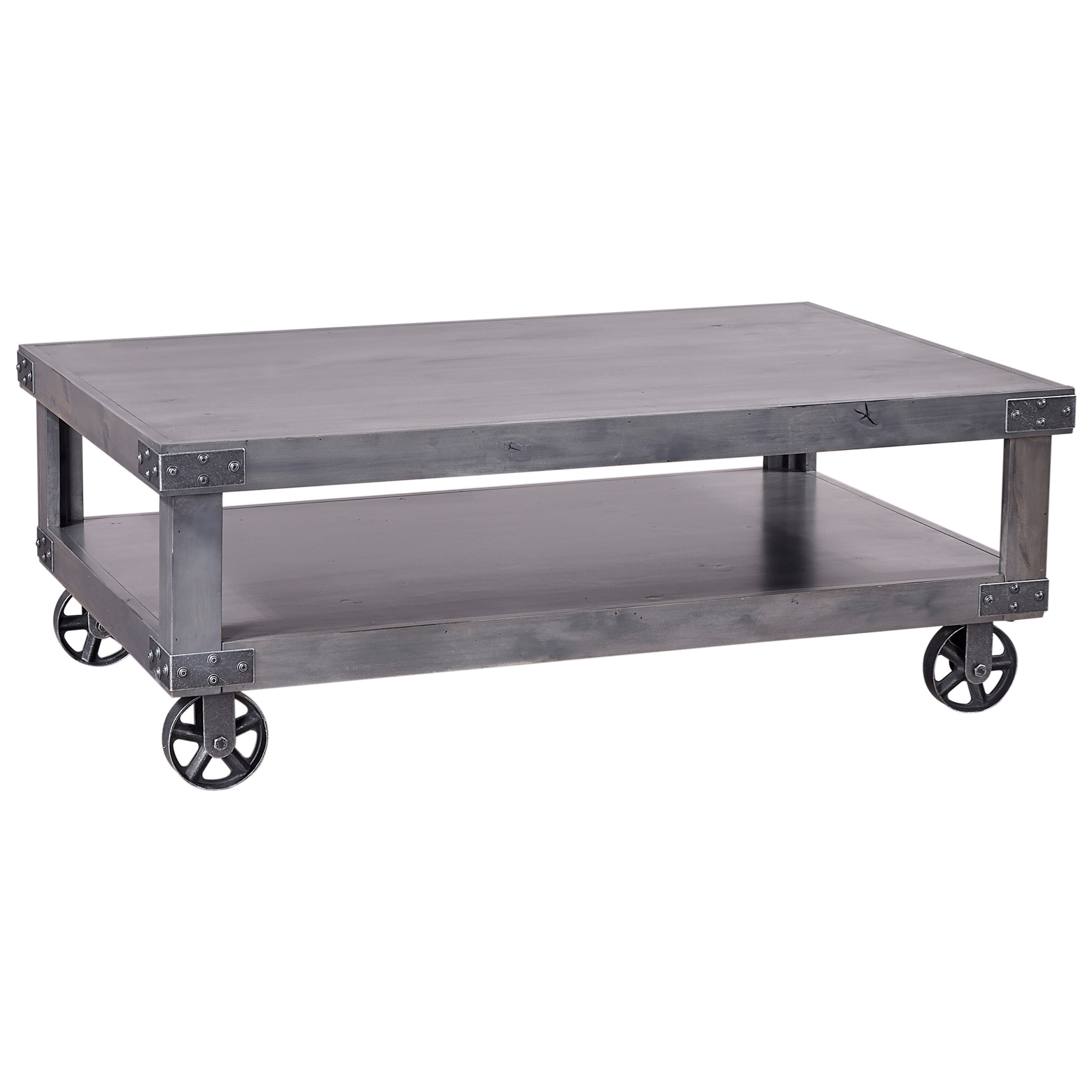 Industrial  Cocktail Table  by Aspenhome at Stoney Creek Furniture