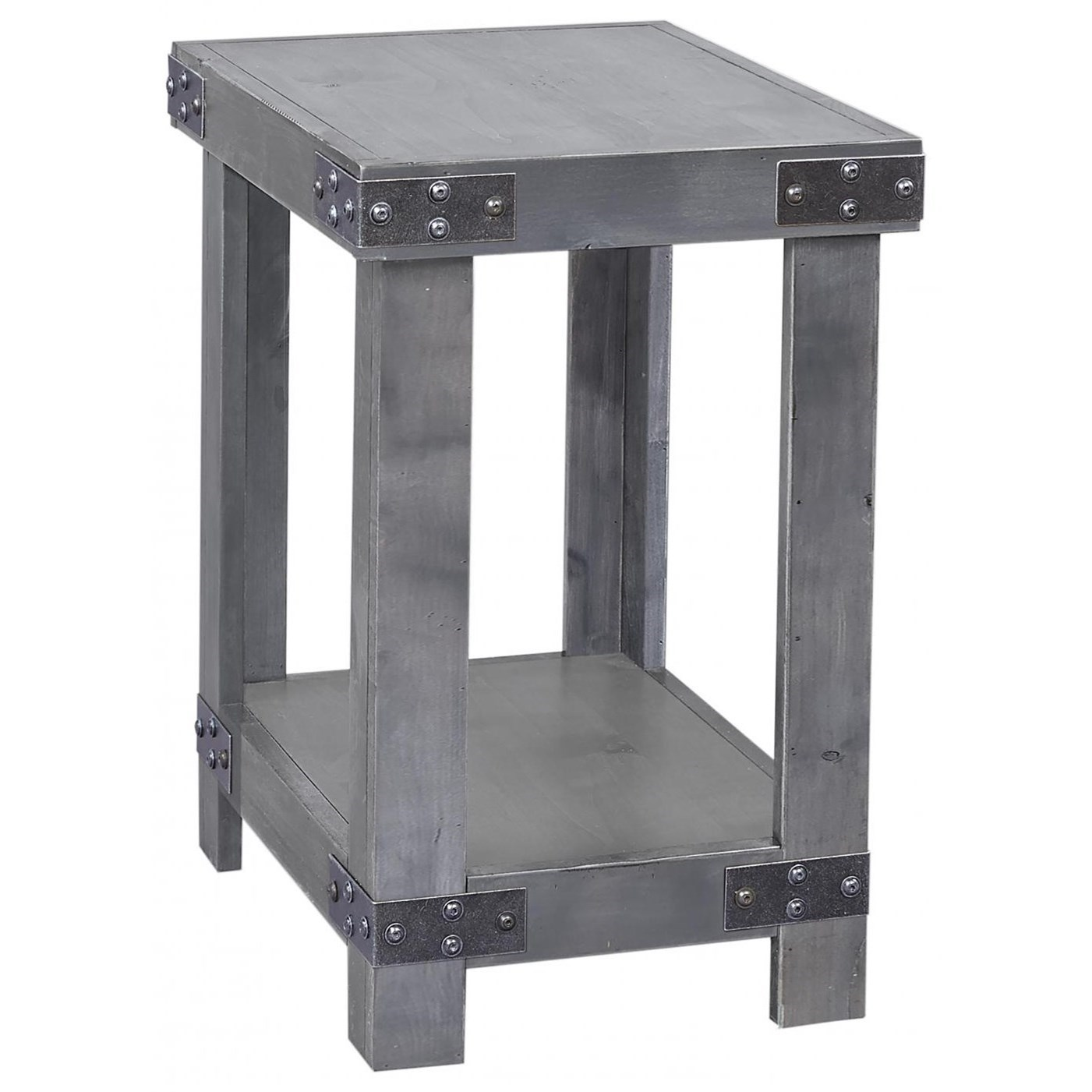 Industrial  Chairside Table  by Aspenhome at Stoney Creek Furniture