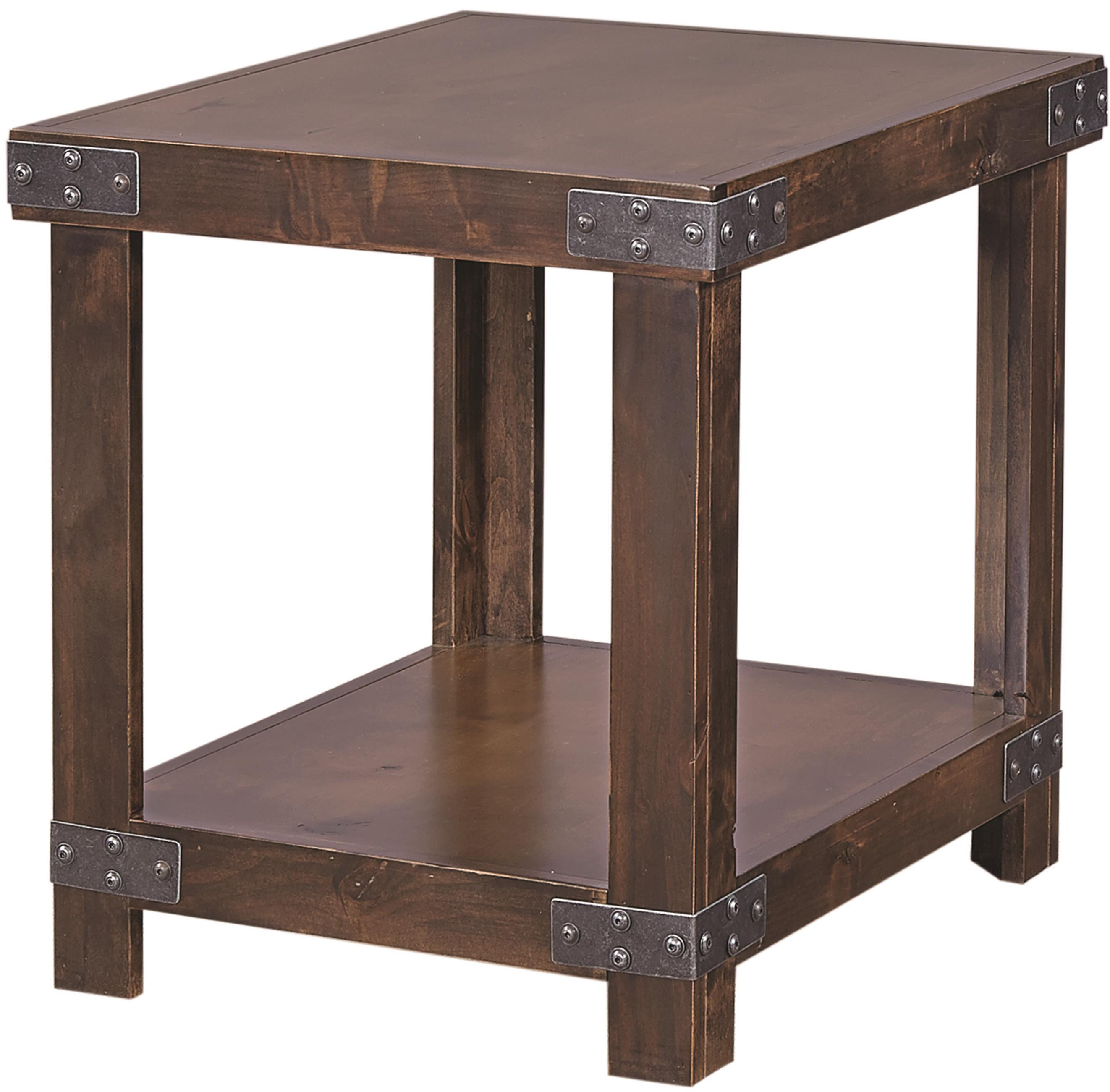 Aspenhome Industrial End Table  - Item Number: DN914-TOB