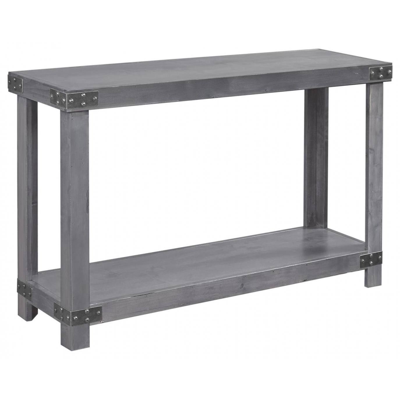 Industrial  Sofa Table  by Aspenhome at Stoney Creek Furniture