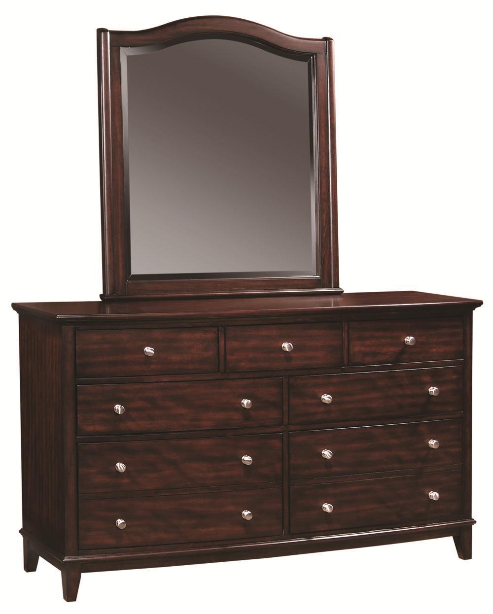 Aspenhome Lincoln Park Dresser & Mirror - Item Number: I82462+454