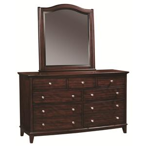 Morris Home Furnishings Lincoln Park Dresser & Mirror