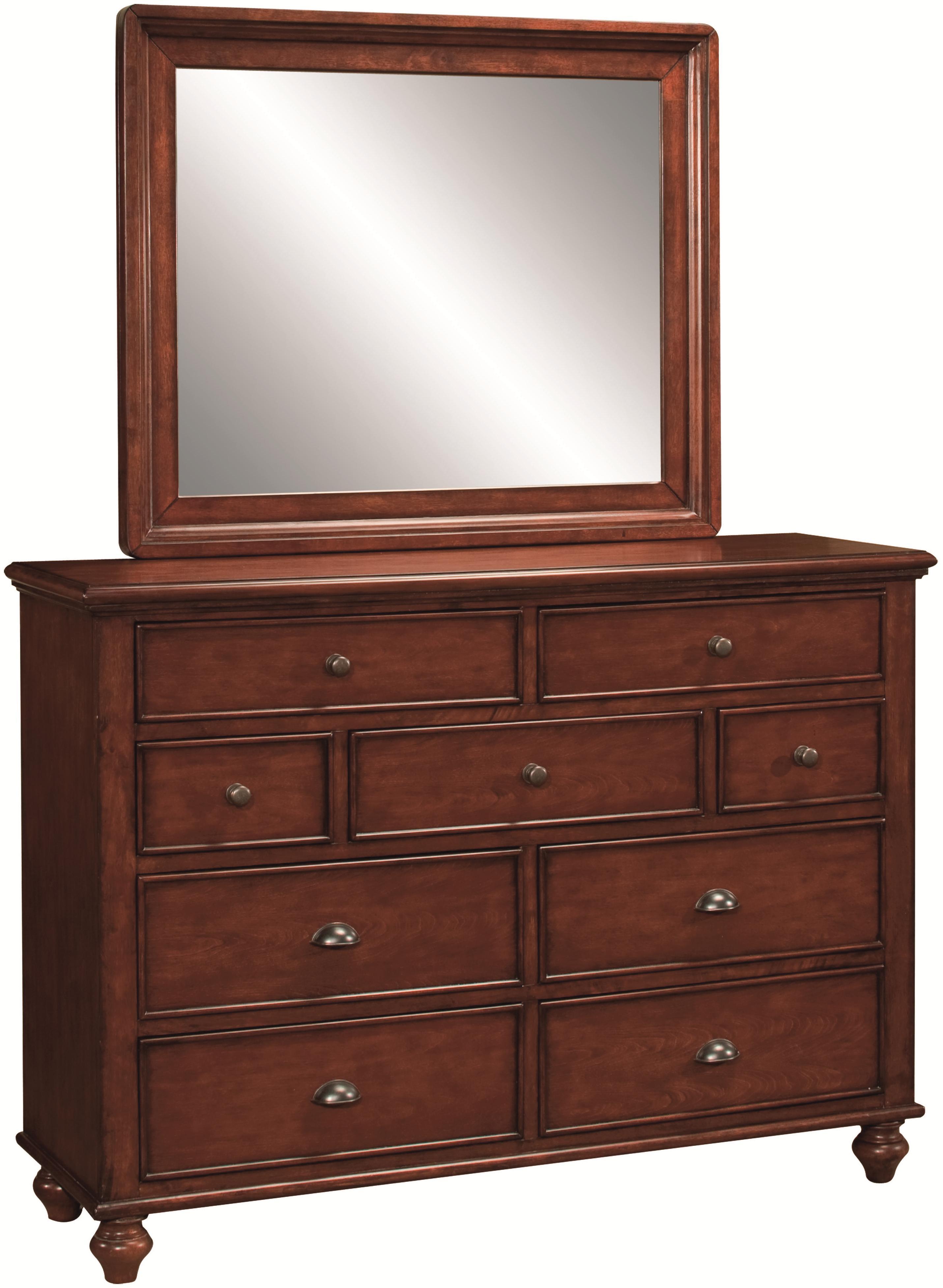 Aspenhome Madison Chesser & Mirror - Item Number: IA200-455-BRH+IA200-463-BRH