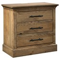 Highland Court Mansfield Mansfield 3 Drawer Nightstand - Item Number: IMA-449-GLZ