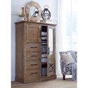 Aspenhome Manchester Transitional Armoire with Clothing Rod and Adjustable Shelves
