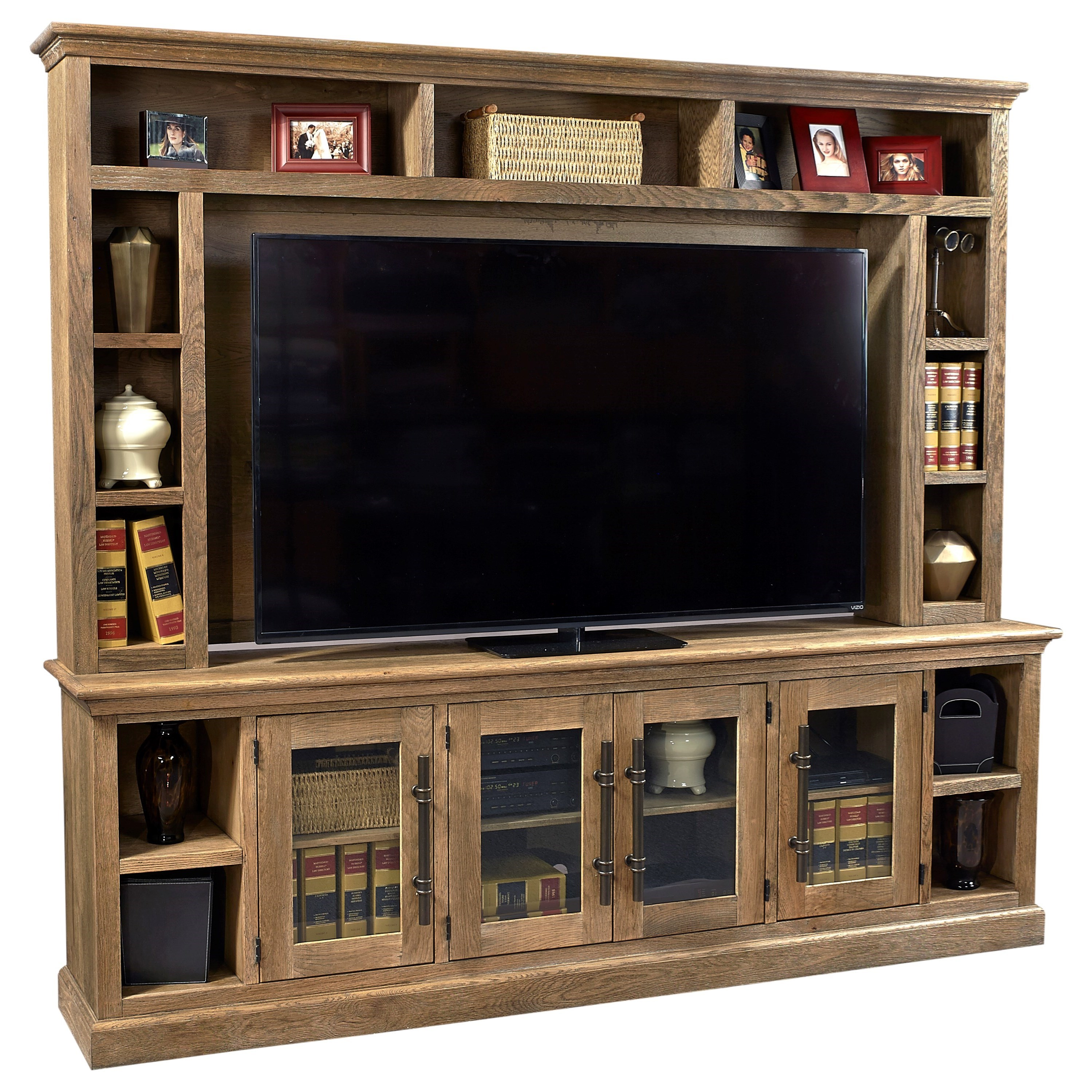 """Manchester 97"""" Console and Hutch by Aspenhome at Mueller Furniture"""