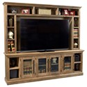 "Aspenhome Manchester 97"" Console and Hutch - Item Number: WKM1270-GLZ+1270H-GLZ"