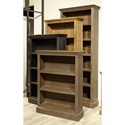 "Highland Court Mansfield 60"" Bookcase  - Item Number: WKM3460-VBK"