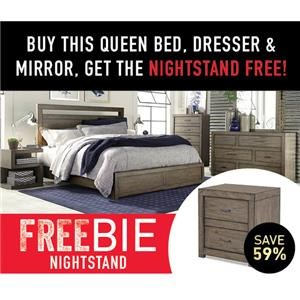 Moreno Queen Bedroom Group with Freebie!