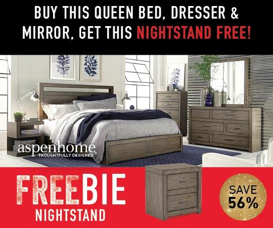 Moreno Moreno Queen Bed Package with Freebie! by Aspenhome at Morris Home