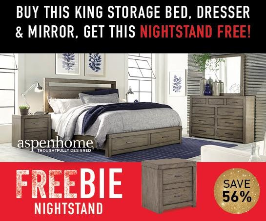 Moreno Moreno King Bedroom Package with FREEBIE! by Aspenhome at Morris Home